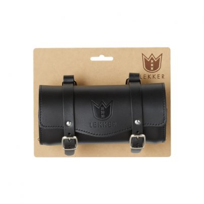 Leather Saddle Bag – Black