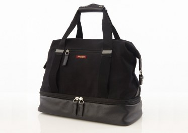 Black Waxed Canvas Midway Weekender Bag
