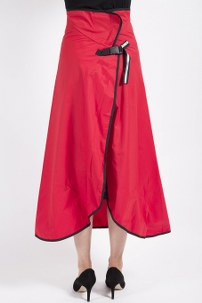 Rainwrap Waterproof Wraparound Skirt – Red