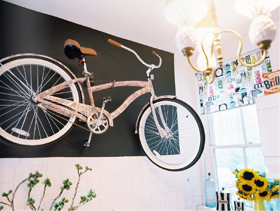 How To Hang Bike On Wall bike as wall art - cyclestyle australia - clothing & accessories