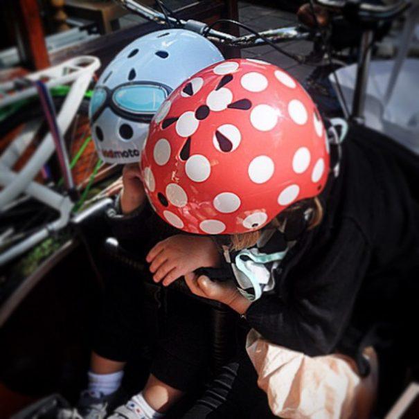 Kiddimoto Blue Goggles helmet for kids
