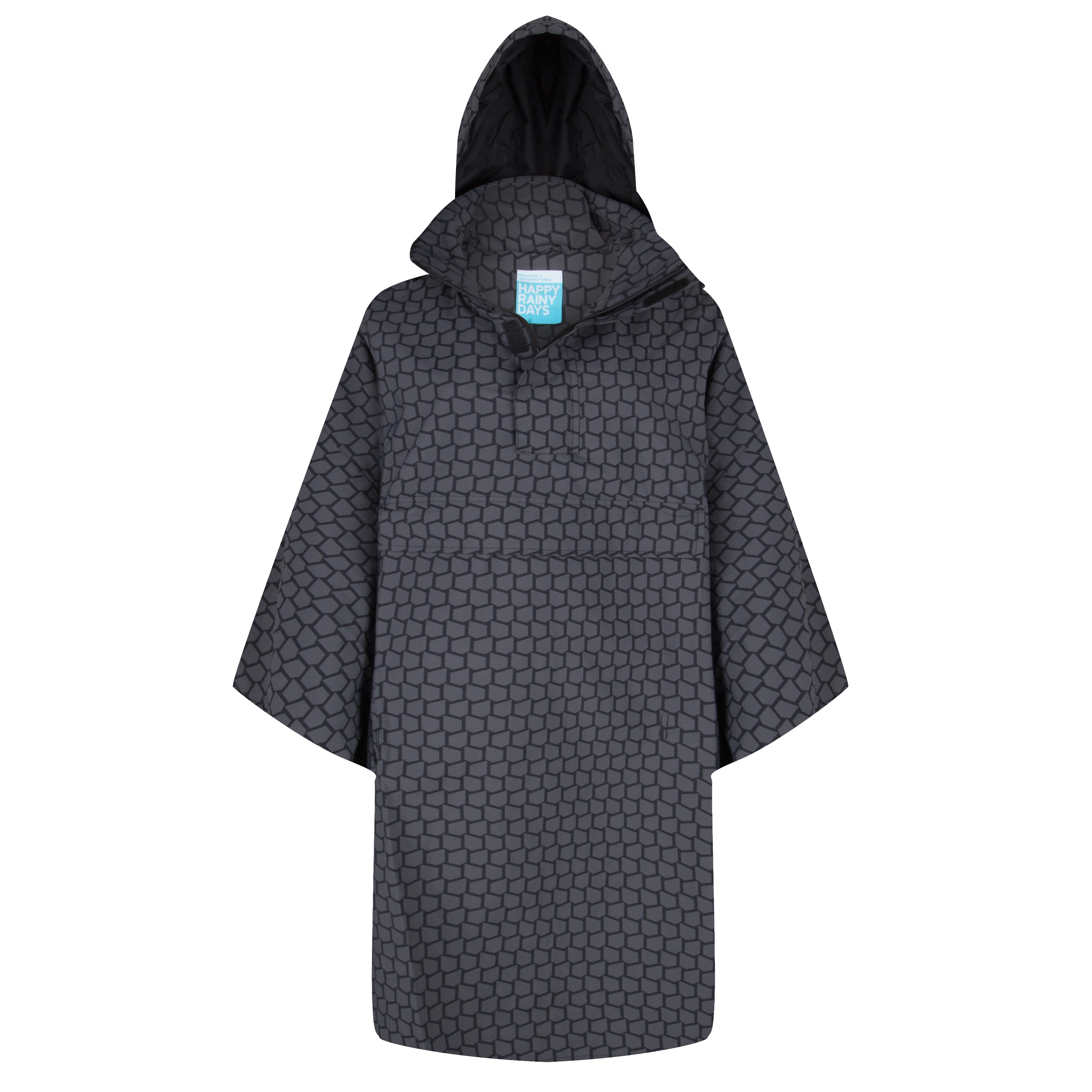 Becky black rain cape