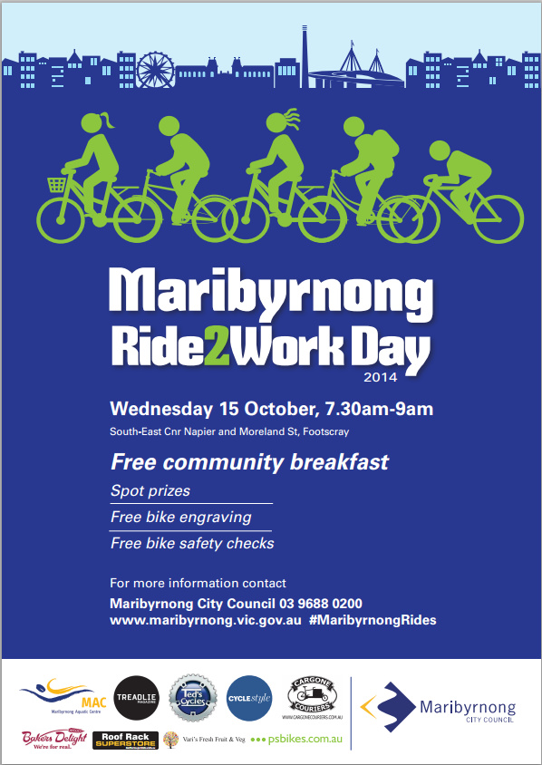 Maribyrnong Ride2Work Day 2014