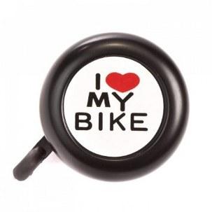 I love my bike bell black