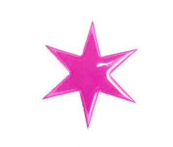 Pink Star Reflective Pin