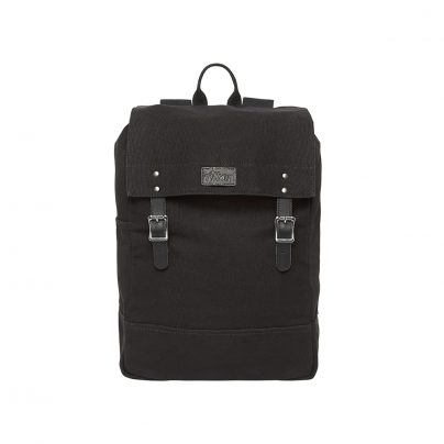 Alban Black Canvas Backpack