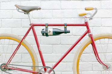vegan bike wine rack