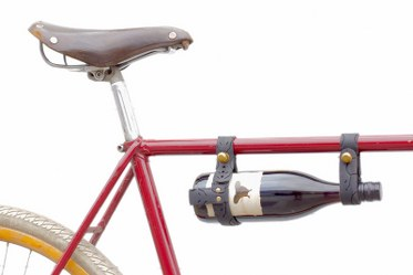 Recycled Bicycle Wine Rack