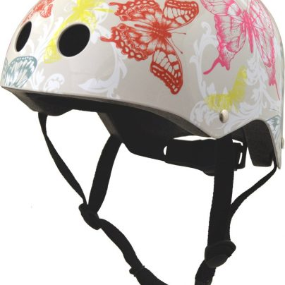 White Butterfly Helmet