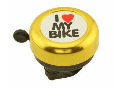 I love my bike bell gold