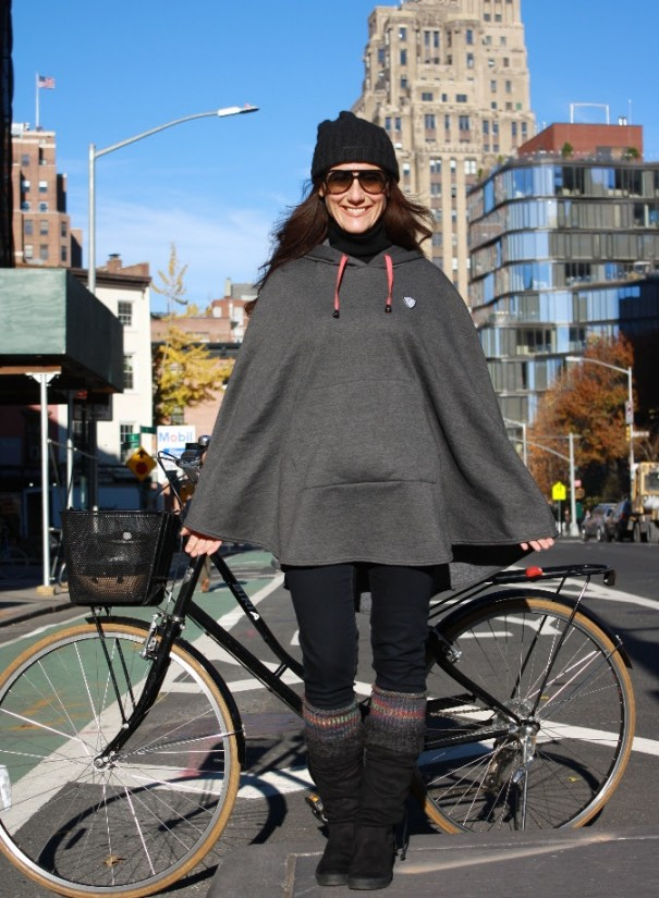 Cleverhood x Tandem NYC Collaboration - The Cleverhood Sweatshirt Cape for Tandem