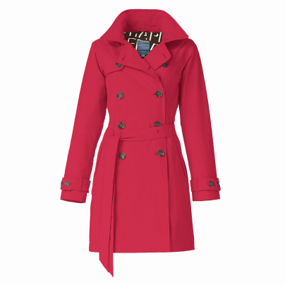 Rosa Waterproof Trenchcoat – Red