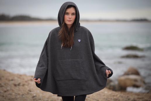 Cleverhood x Tandem NYC Collaboration - The Cleverhood Sweatshirt Cape for Tandem