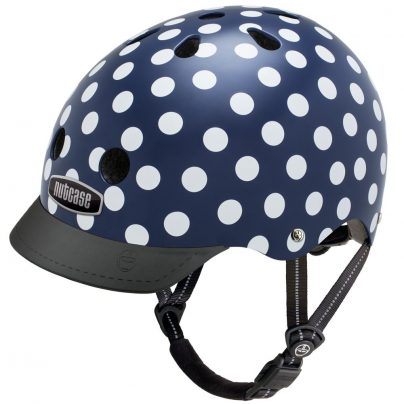 navy dots helmet