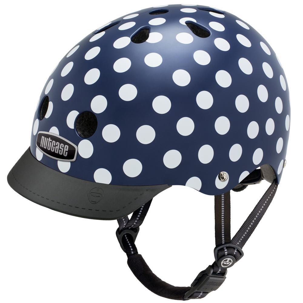 navy dots helmet