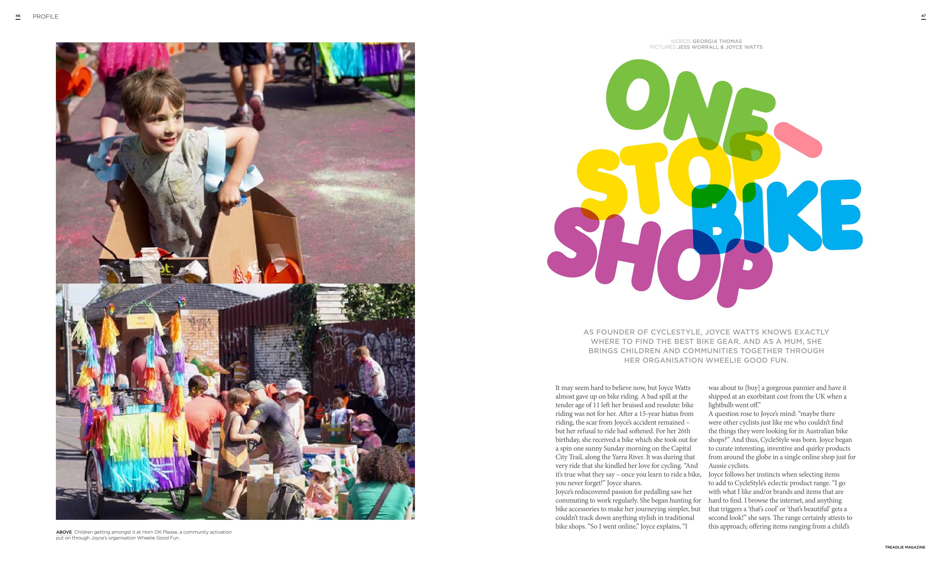 Joyce Watts In Treadlie Magazine 22