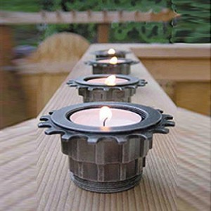 Blog Wed 7 Apr 300x300 Industrial chic – recycled tea light holders